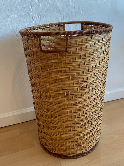 Handwoven Tall Basket with Handles