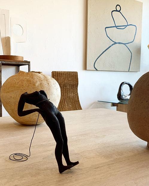 Wax Abstract Women Reclining