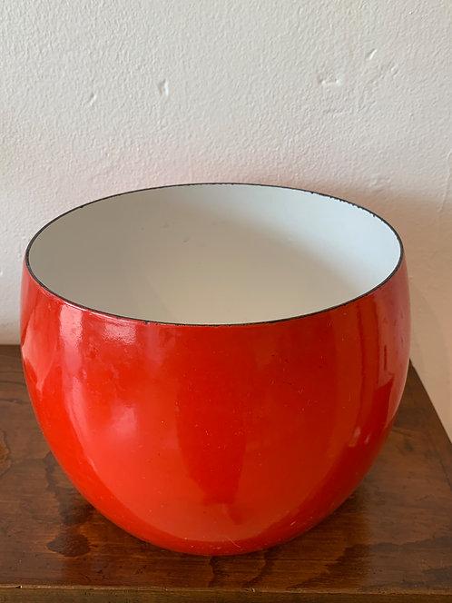 Red Metal Dansk Bowl