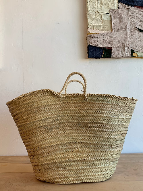Hand Woven Basket with Handles
