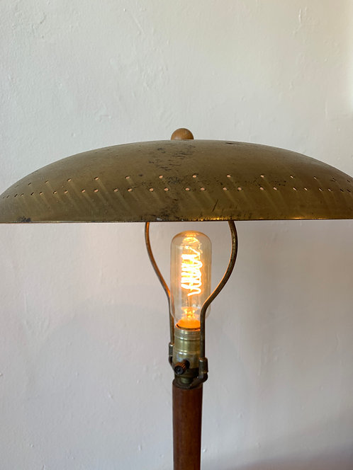 French Brass Disc Lamp