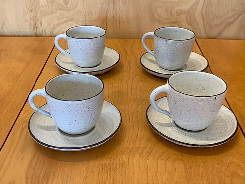 Danish Ceramic Tea Cups & Saucer