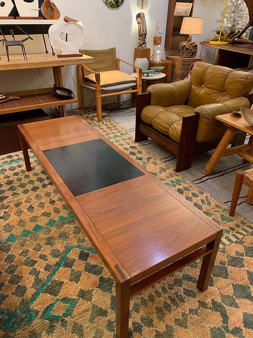 Mid Century Long Table w/ Black Square
