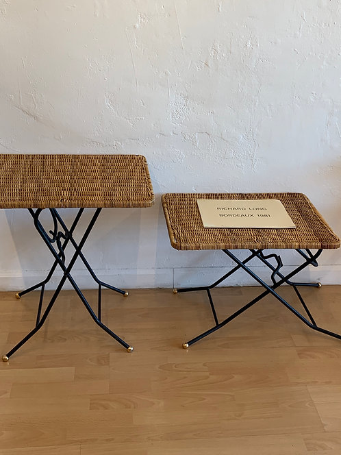 Rattan & Iron Folding Tables