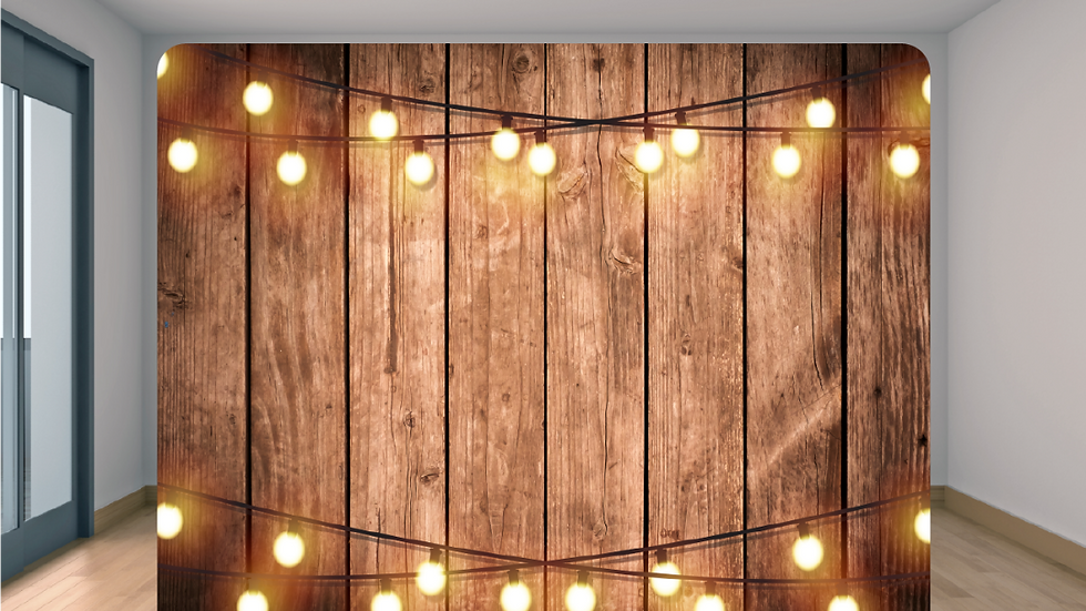 Wood with String Lights Backdrop Add-on