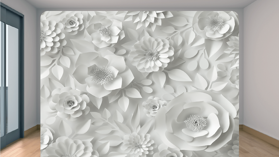 White Floral Backdrop Add-on