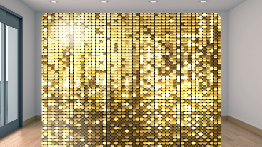 Gold Sequin Backdrop Add-on