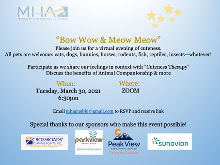 MHAP in the Community: Bow Wow Meow Meow