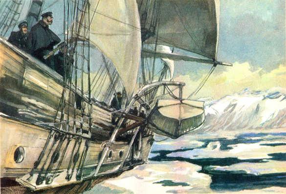 Литке у побережья Новой Земли