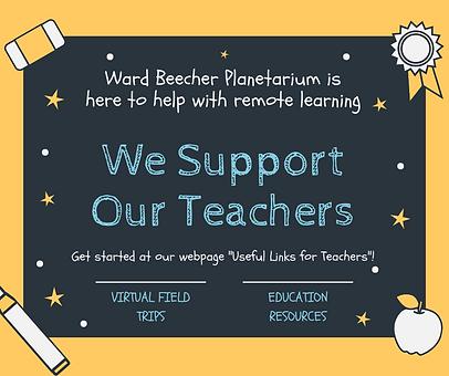 For Teachers Ward Beecher Planetarium.pn