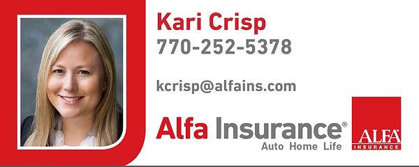 Kari Crisp, Alfa Insurance, Newnan Insurance, Sharpsbug Insuance, Coweta Insurance, Insurance Peachtree City, Auto Insurance, Home Insurance, Life Insurance, Get Insurance Quote, Free Quote