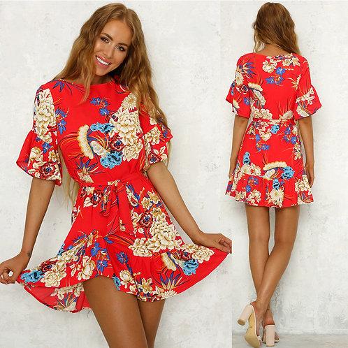 Boho Floral Long Maxi Dress