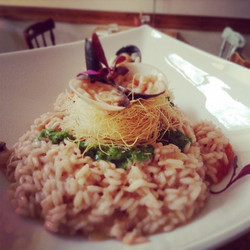 Friday Night Special_ seafood risotto with a crispy nest of kataifi #foodloverscookshop #foodlovers_