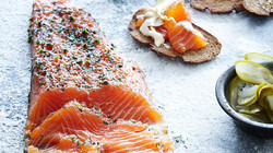 Salmon gravlax made by Food Lovers C
