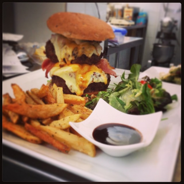 Serious customers require serious burgers & we take our burgers VERY seriously #foodloverscookshop #