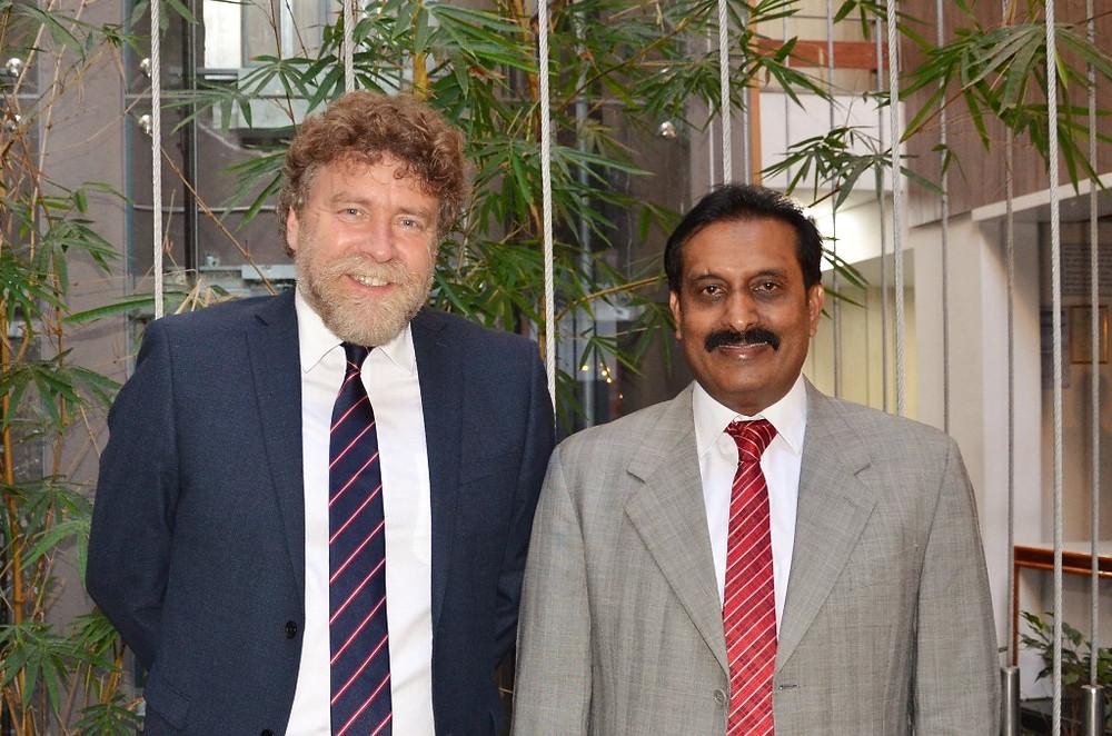 Founding Headmaster of Repton Bangalore, Mr. Iain Blaikie with Mr K.C. Vijaya Kumar, Chairman of the Repton Bangalore