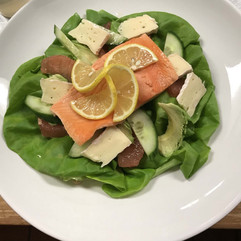 Chardonnay Poached Salmon Salad