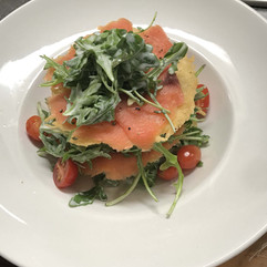 Parmesan and Smoked Salmon Carpaccio Stacks