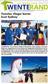 Herman and Ina Plattje in the Dutch newspaper