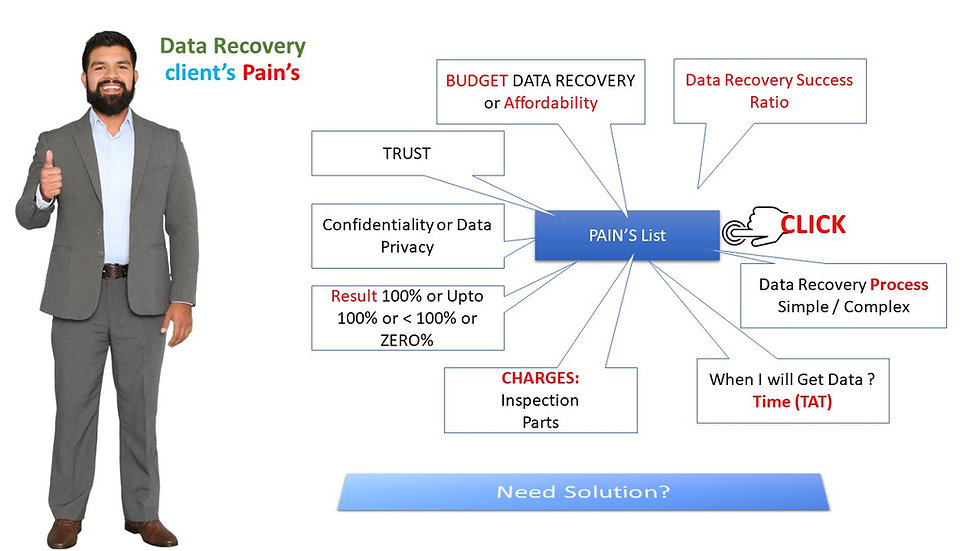 Data Recovery Client's Pain List