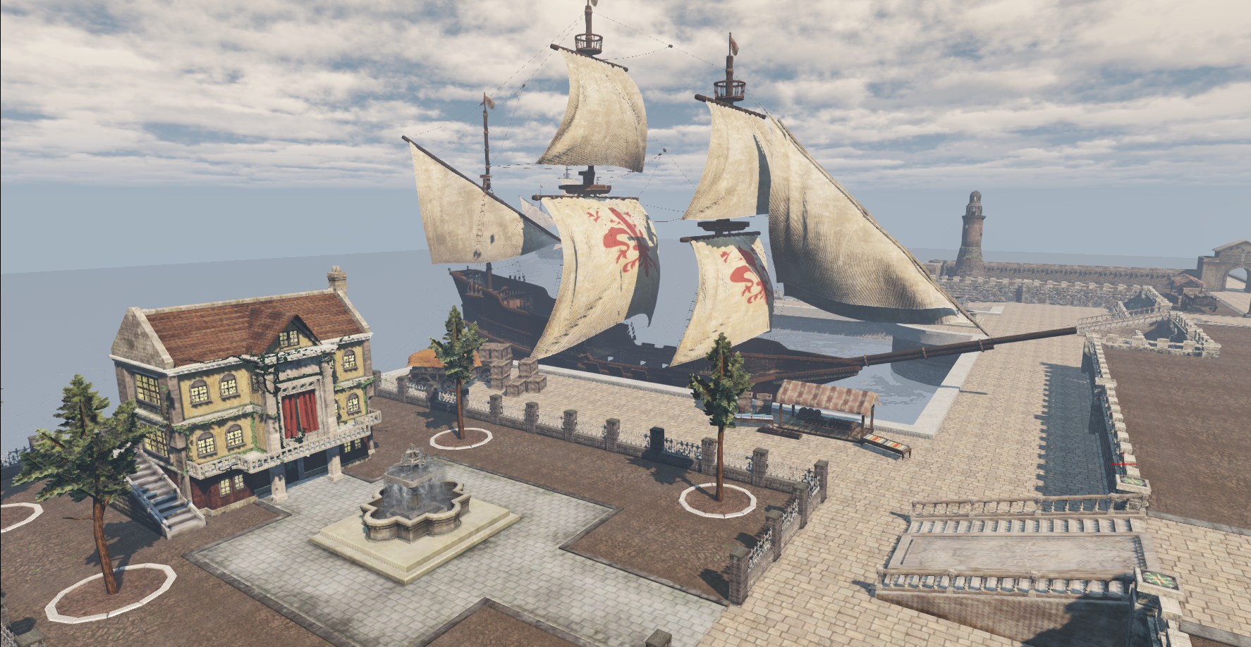HarborCity with Ship