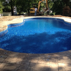 Pool being filled