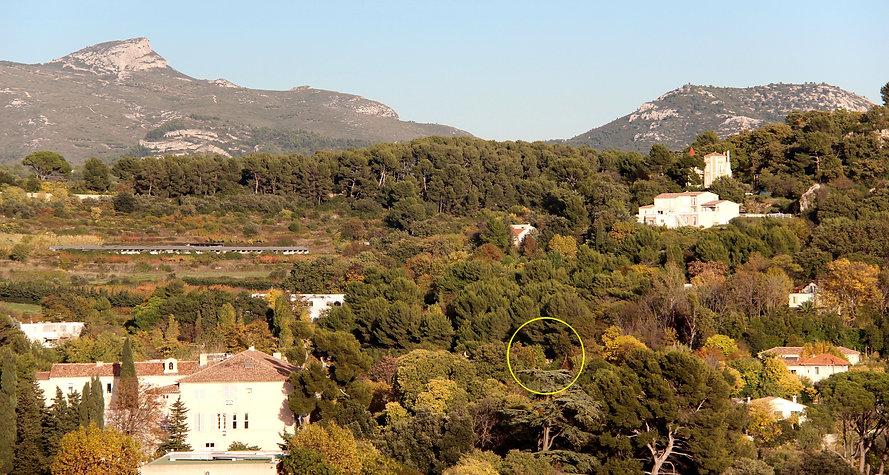 situation du Pavillon Blanc / Les Caillols / 13011 Marseille / Collines / Garlaban / Marcel Pagnol
