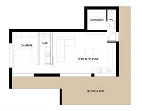 plan des pièces composant Le Pavillon Blanc
