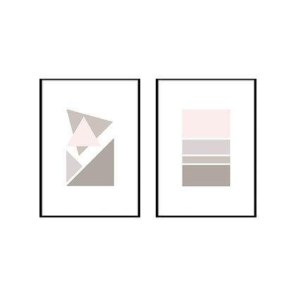 Pastel Geometric Print - Set of 2 Prints - No.1