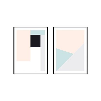 Shapes Geometric Print - Set of 2 Prints - No.2