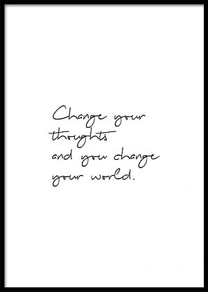 Change Your Thoughts Print - Mindfulness Quote Poster