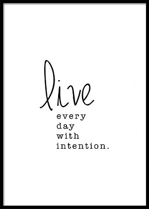 Live Every Day Print - Quote Poster, Typography Print
