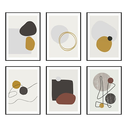 Abstract Shapes Print - Set of 6 Prints