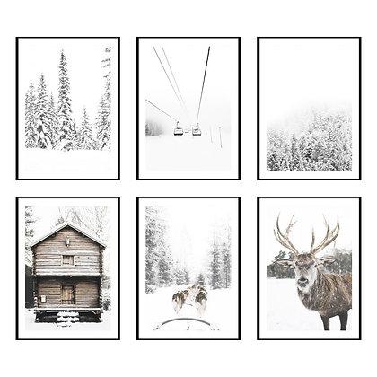 Snowy Winter Print - Set of 6 Prints