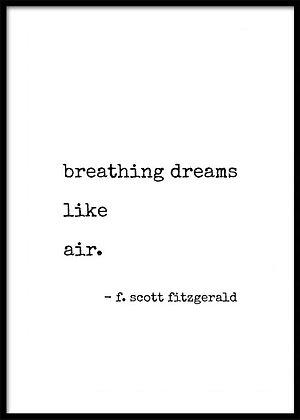 Breathing Dreams Print - Gatsby Typography Print