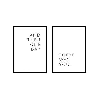 One Day Print - Set of 2 Prints, Love Poster Print
