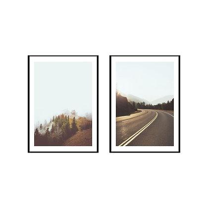 Nature Landscape Print - Set of 2 Prints - No.1