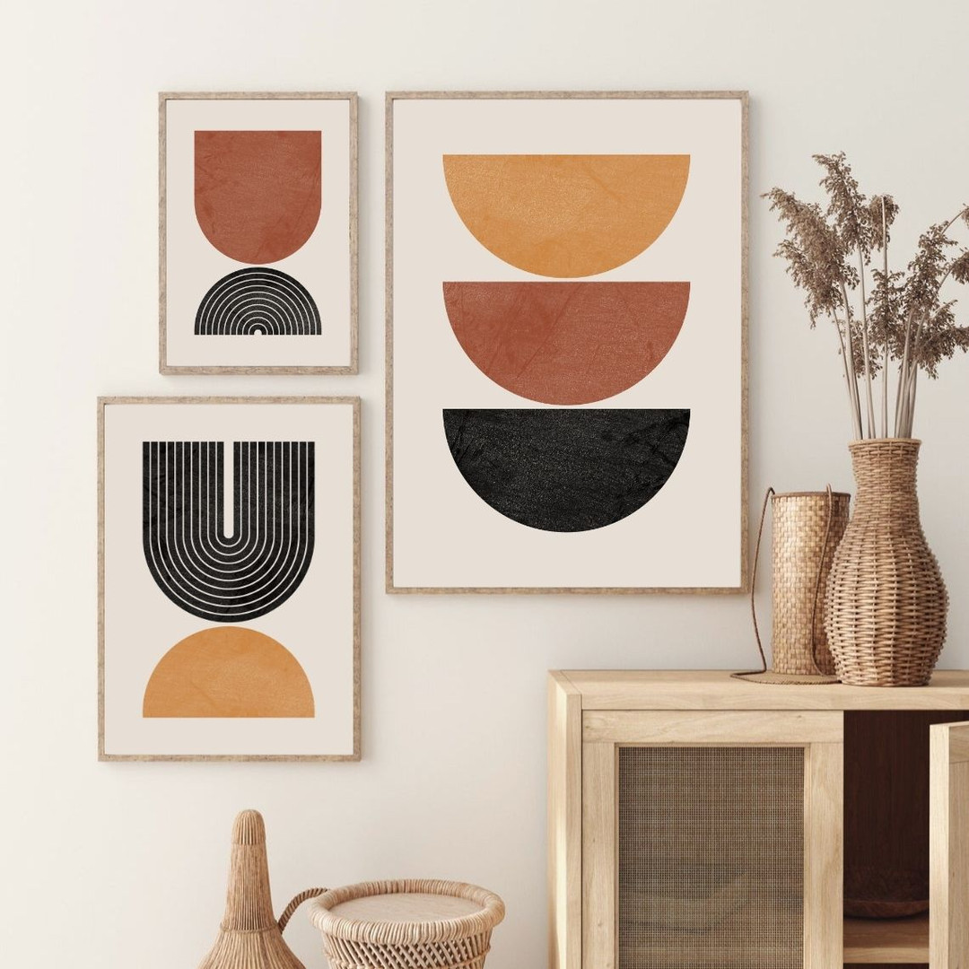 Mid Century Print Set of 3