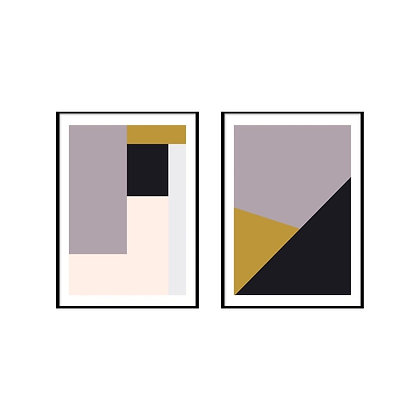 Shapes Geometric Print - Set of 2 Prints - No.1