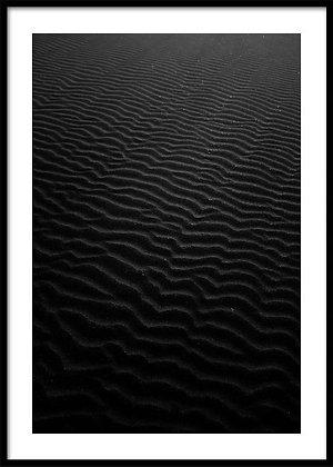 Black Sand Print - Coastal Art Poster