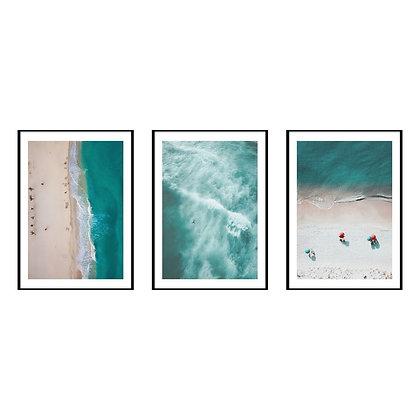 Turquoise Ocean Print - Set of 3 Prints - No.2
