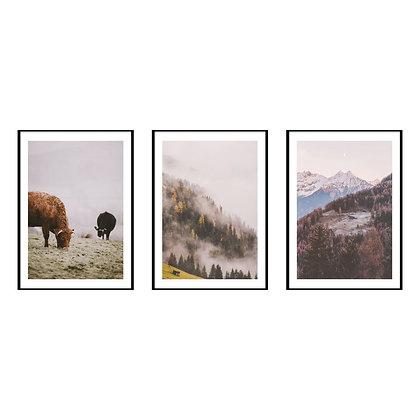 Nature Landscape Print - Set of 3 Prints - No.2