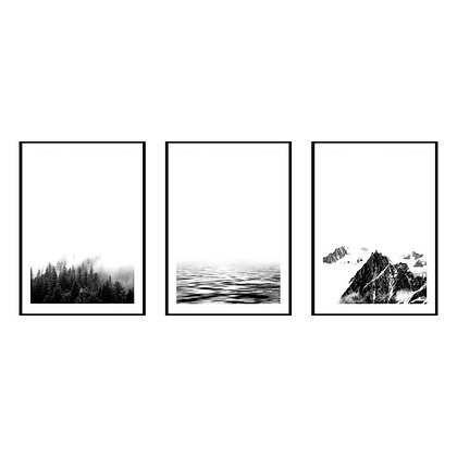 Minimalist Landscape Print - Set of 3 Prints - No.1