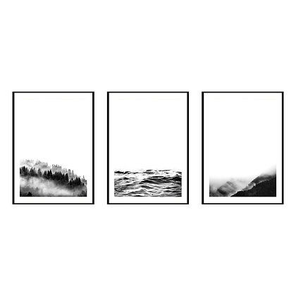 Minimalist Landscape Print - Set of 3 Prints - No.2