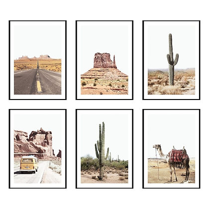 Boho Arizona Desert Print - Set of 6 Prints