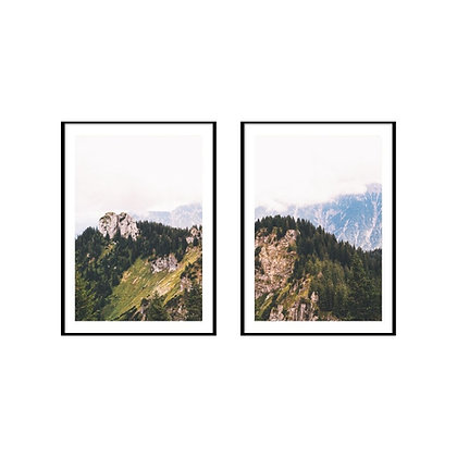 Mountain Forest Print - Set of 2 Prints