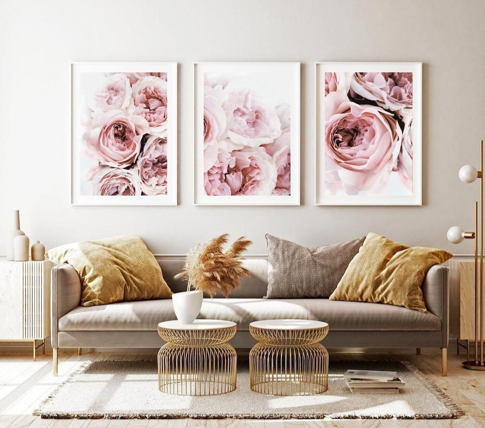 Peonies Print Set of 3