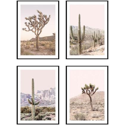 Boho Desert Print - Set of 4 Prints