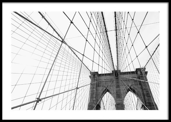 Black & White Brooklyn Bridge Print