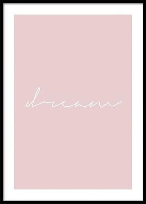 Dream Print - Typography Print, Scandinavian Poster